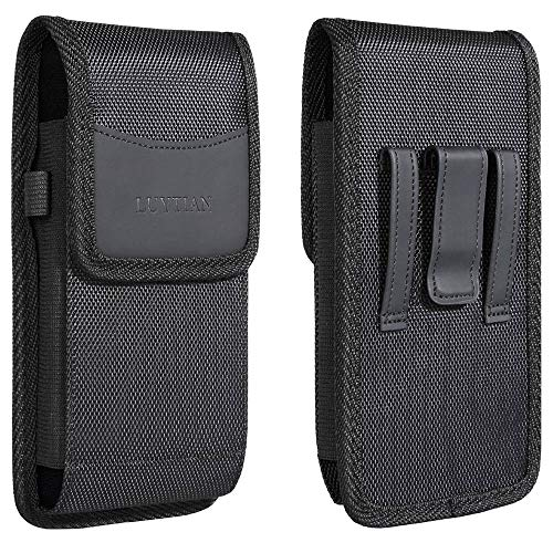 Nylon For iPhone 11 iPhone 11 Pro Max iPhone X Max Holster iPhone 8 Plus 7 Plus 6S 6 Plus Holster Pouch Premium Leather Fit with Otterbox Defender Case/Lifeproof Case/Hybrid Armor Case/Battery Case On