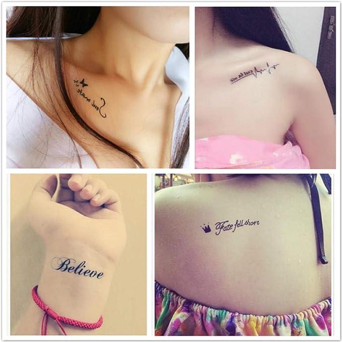 Tatuaje temporal para adultos Hombres Mujeres Niños (30 hojas ...
