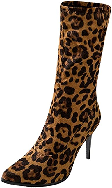 leopard pointed toe booties