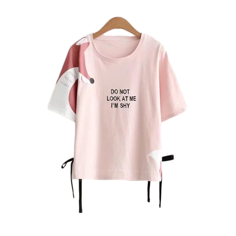 Aza Boutique Girl's Cute Style Shy Fox Loose Sweatshirt