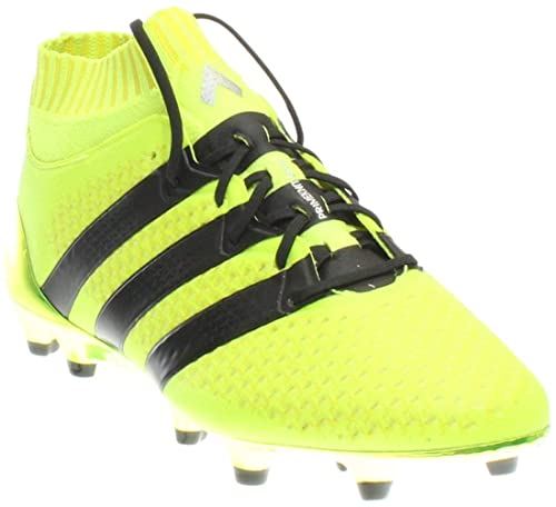 competitive price 6b0c9 bc2cb adidas Kid s Soccer ACE 16.1 Primeknit Firm Ground Cleats (4) Yellow Black