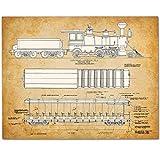 Walt Disney World Train - 11x14 Unframed Patent Print - Great Gift for Disney Fans