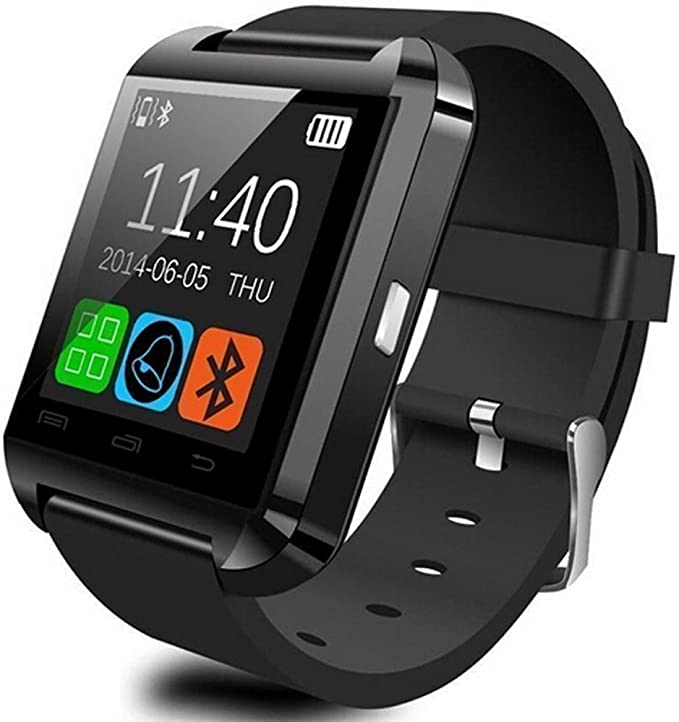 U Watch Smart Watch - Reloj Bluetooth para Smartphones Android y iPhone (Negro): Amazon.es: Electrónica