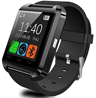 5bebe83b6 U Watch Smart Watch Bluetooth Watch for Android smartphones and  iPhone(Black)