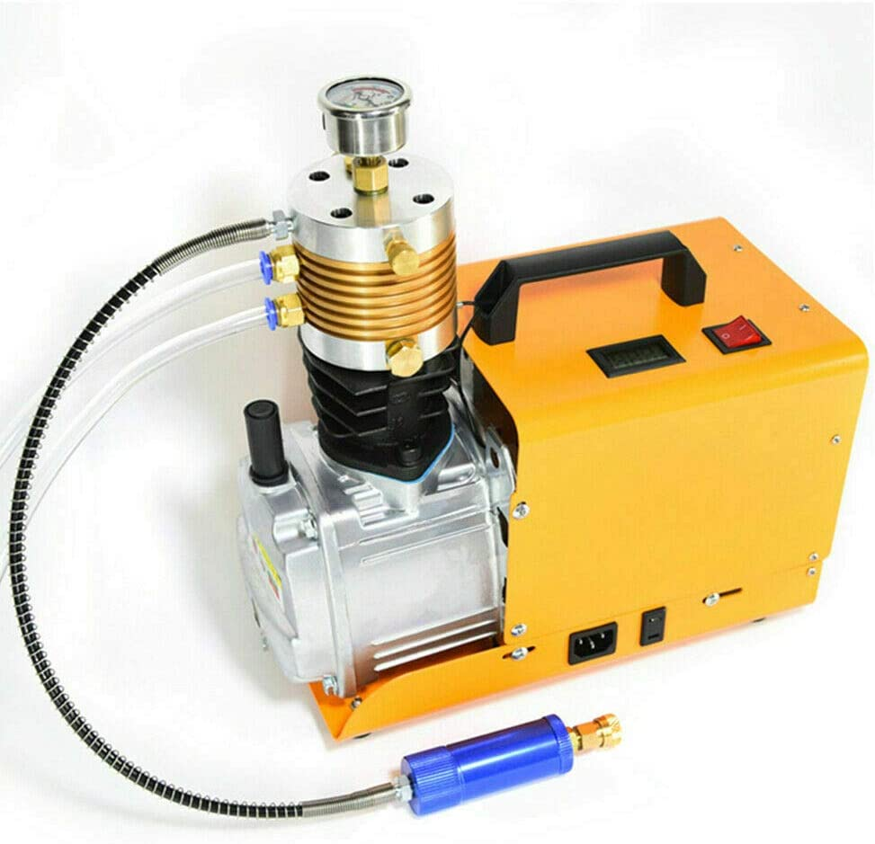 Ou Best Choose Elektrische Hochdruckluftpumpe Pcp High Pressure Luftpumpe Kompressor Hochdruck Airgun Scuba Luftkompressor 300bar 30mpa 4500psi Sport Freizeit