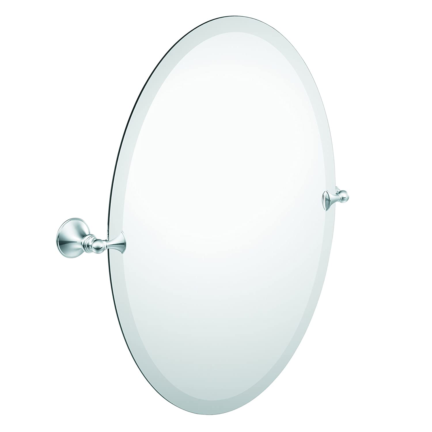 Amazon Moen DN2692CH Glenshire Bathroom Oval Tilting Mirror Chrome Home Improvement