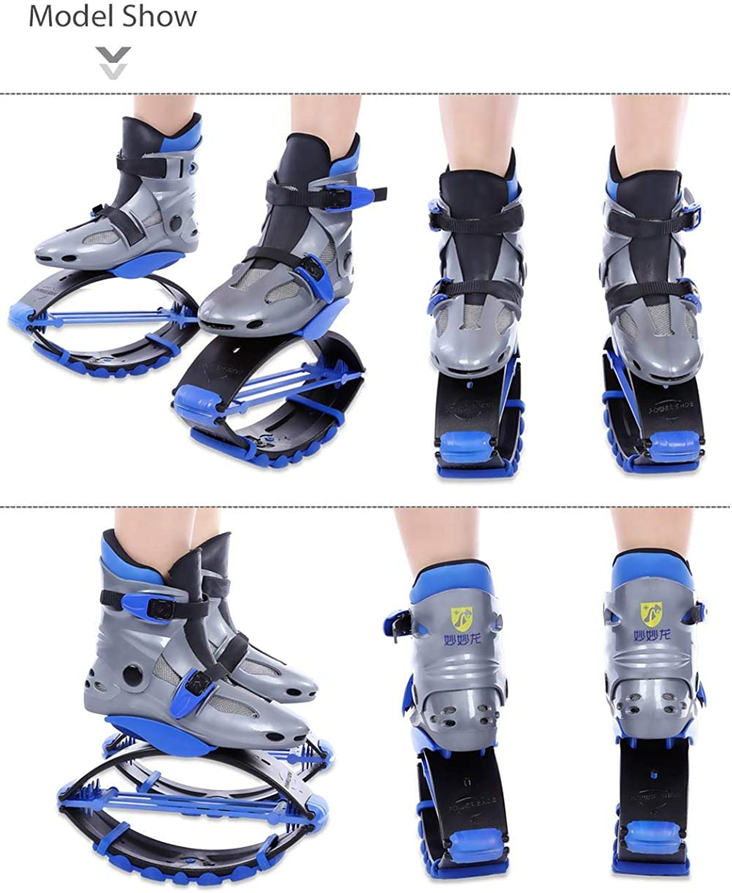 Moojm Gar/çons Filles Kangourou Bottes Jumps Bounce Chaussures Rebound Chaussures Fitness Enfants Exercise Trainning Jouets 20-70kg Bandouli/ère Cadeau