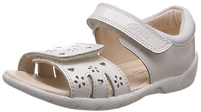 b97ef69755b Clarks Girl s White First Walking Shoes - 4 Kids UK India (20 ...