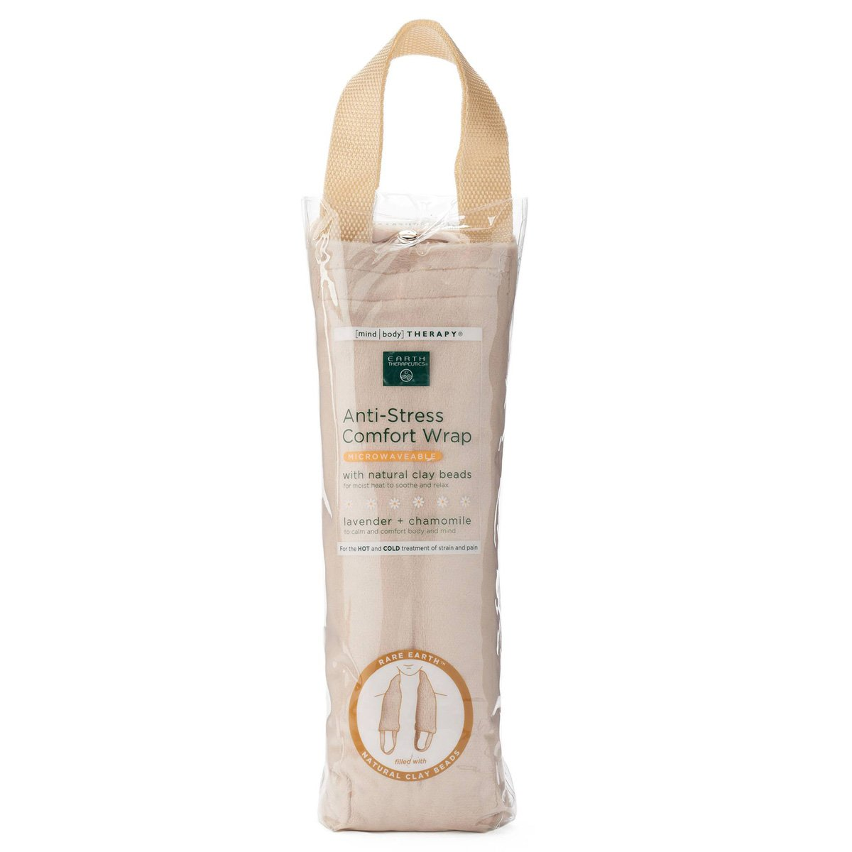 Earth Therapeutics Microwaveable Lavender and Chamomile Anti-Stress Comfort Wrap, Tan, 1 Wrap by Earth Therapeutics
