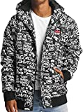 Ecko Unlimited allover Anorak Black Jacket Jacke Übergangsjacke