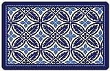 Bungalow Flooring 2 by 3-Feet Surfaces Floor Mat, Dark Blue Radial