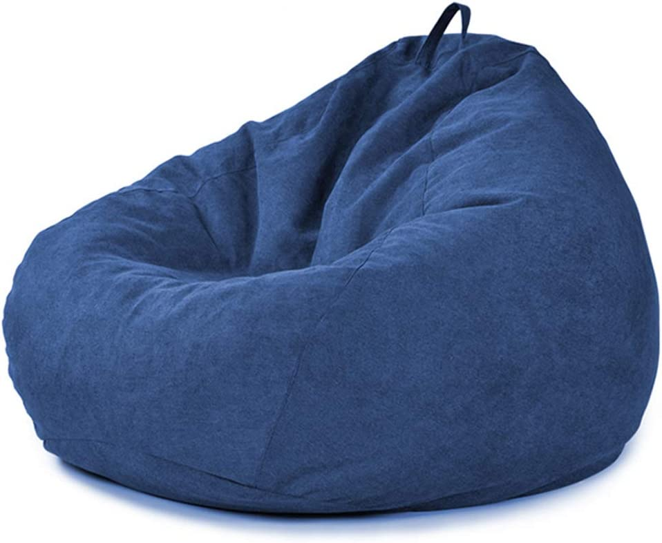 MYJZY Bean Bag Chair for Adults Kids with Footstool,Soft Comfortable Lazy Bean Bag Sofa Sack,Floor Sofa Cushion,Rest Relaxation Lounge Chair for Dorm Room,Beige,S