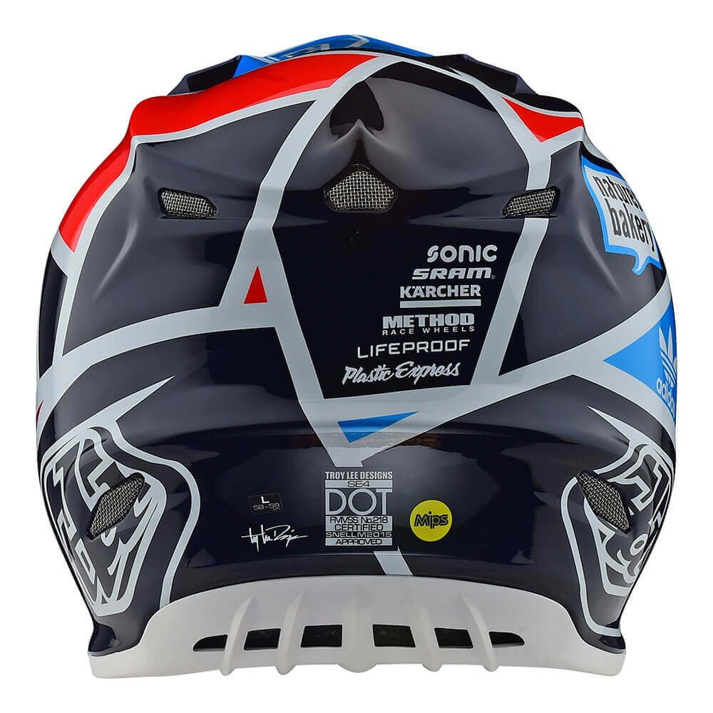 Amazon.com: Troy Lee Designs Motocross Off-Road SE4 Helmet Carbon; Metric (Navy, Large): Automotive