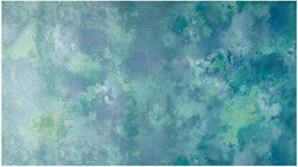 In the Beginning Cotton Fabric Diaphanous Teal Ombre Dots
