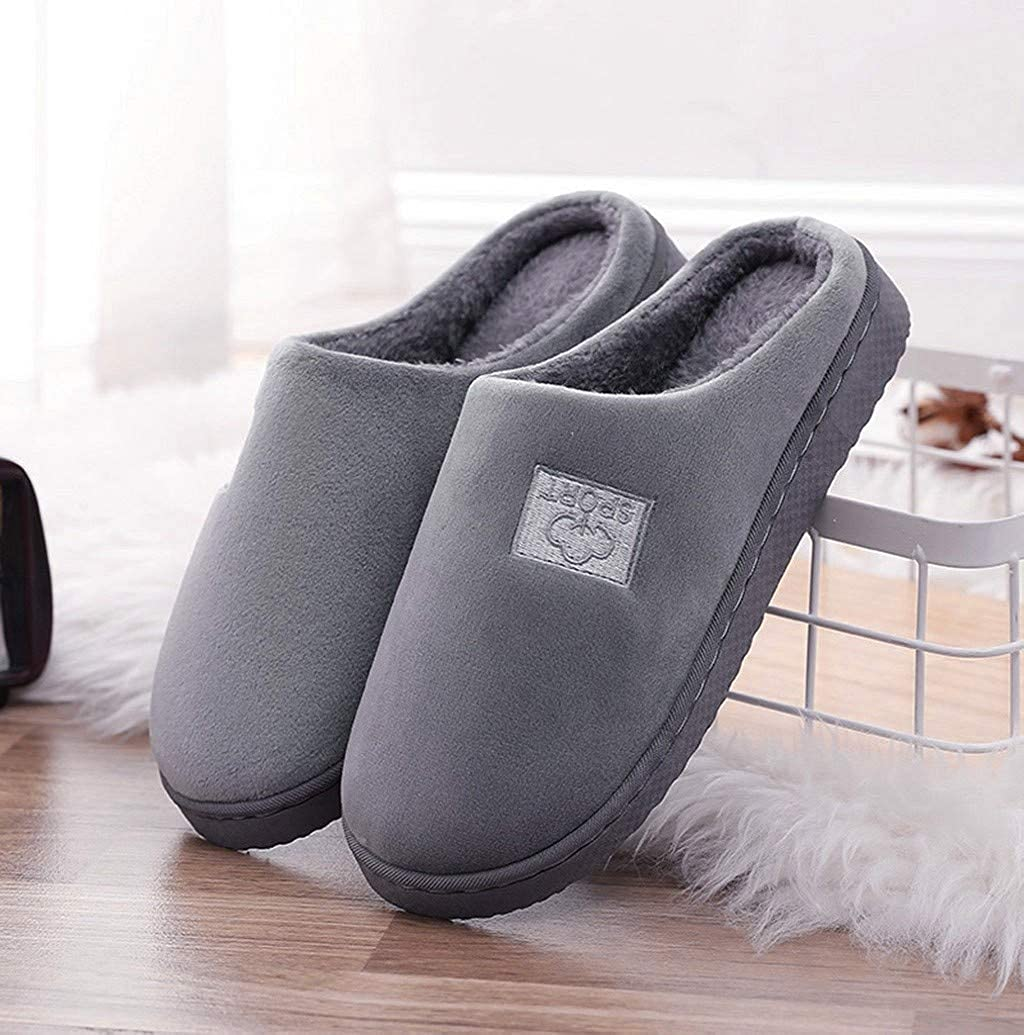 Women Men Classic House Slippers,Nevera Warm Memory Foam Breathable Slip-on Indoor Slippers Shoes with Fleece Lined