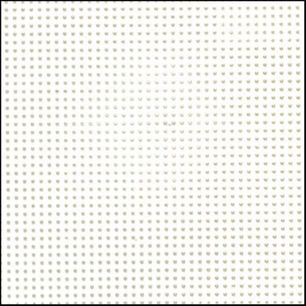 Darice Lienzo de plástico Perforado 14 21,59 x 27,94 cm, 2 Unidades, Color Blanco, 8.5
