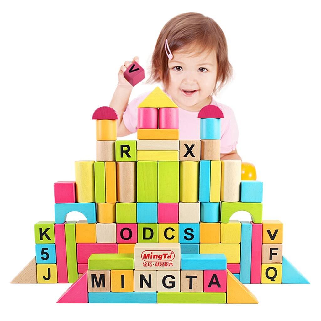 Zhijie-toy 80 tabletten Puzzle früherziehung bausteine  olz Kinder pädagogisches Spielzeug Baby Intelligenz bausteine  pielzeug