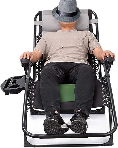 EZCHEER 18 inch Higher Zero Gravity Chair Padded