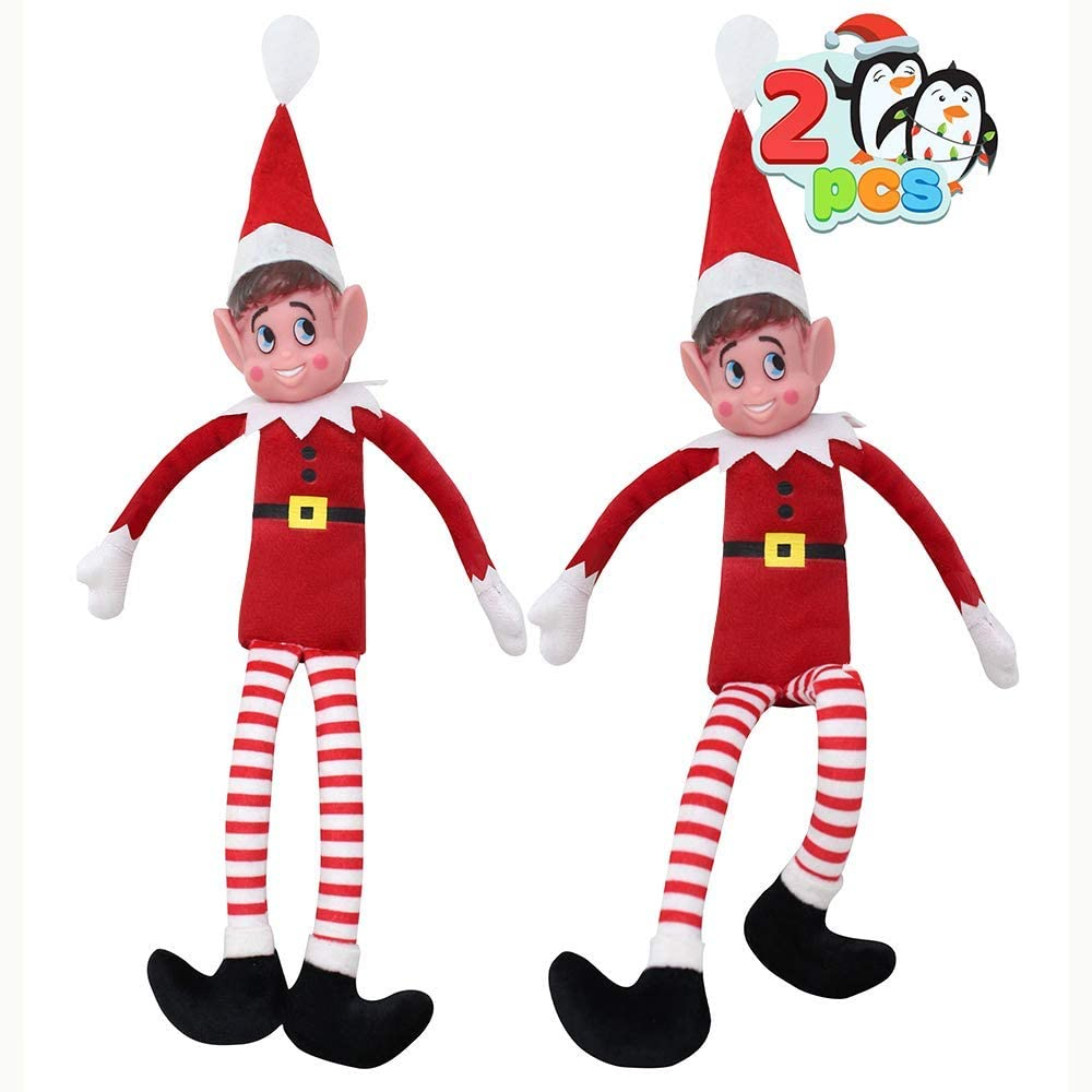 JOYIN Elf Plush red Doll 2 Packs 12 inches, Naughty Christmas Novelty Toy, Christmas Party Favors, Holiday Decor and More!