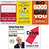 Crucial Conversations, How to Talk to Anyone, Drive, Getting Things Done, So Good They Cant Ignore You 5 Books Collection Set