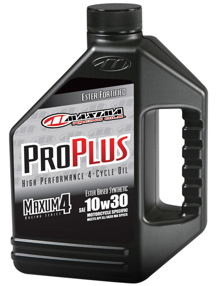 Maxima (30-019128) Pro Plus+ 10W-30 Synthetic Motorcycle Engine Oil - 1 Gallon Jug