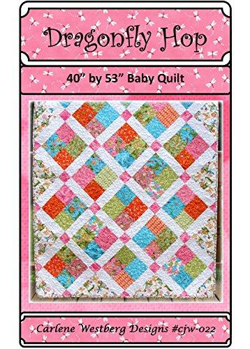 Dragon Fly Hop Baby Quilt Pattern cjw-022 Carlene Westberg Designs - Lattice Quilt Pattern