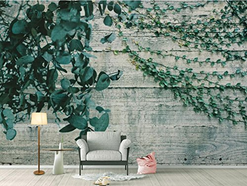 [Customize,Contact Us],Custom High-Quality Silk Material Photo Wallpaper Mural Idyllic Wind Vines Leaves Background Wallpaper For Walls 3D,By ZLJTYN B07F1L7NZ2 [customize,contact us]