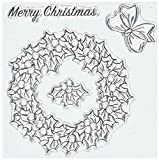 Art Impressions Christmas Wreath Stamp & Die Set