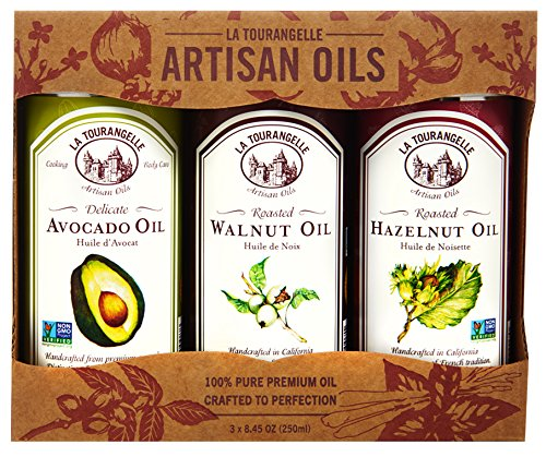 (La Tourangelle, Roasted Walnut, Hazelnut, Avocado Trio of Oils, 25 Ounce)