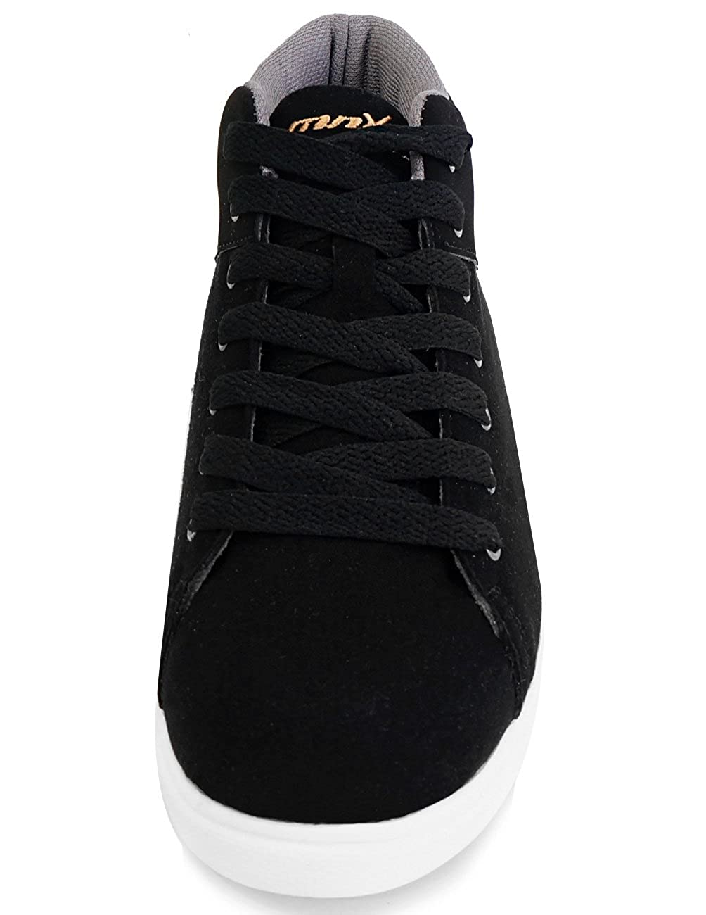 MNX15 Womens Elevator Shoes Height Increase 2.7 Patrick Black