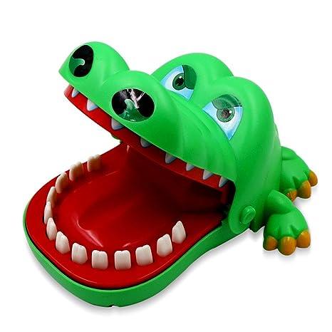 Juguete Tiburón Dedo juego Reflejo De Dientes O juguetes Los Animales Empujando Mordido Cocodrilo gzqes juego Dentista PkO80wn