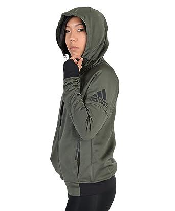 9280c5002ad7 Adidas Womens Adidas Infinite Series Daybreaker Hoodie Army Green S ...