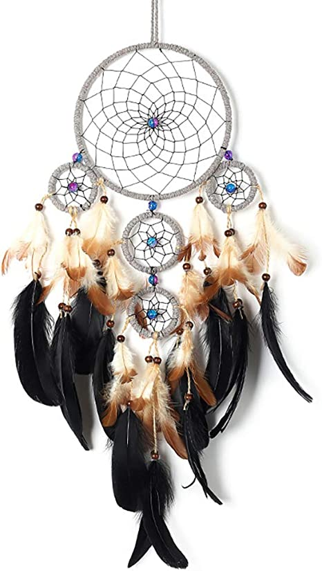 Black Feather Dream Catcher Feather Bead Wall Hanging Decor Home Decoration