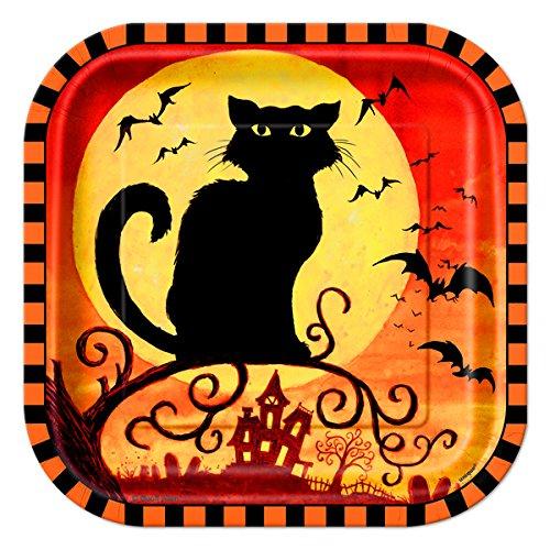 Black Cat Plate Closeup