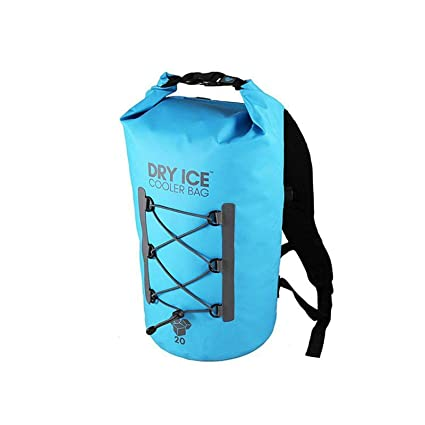 Dry Ice Cooler Mochila Nevera Portátil 20 Litros Turquesa Impermeable D003T