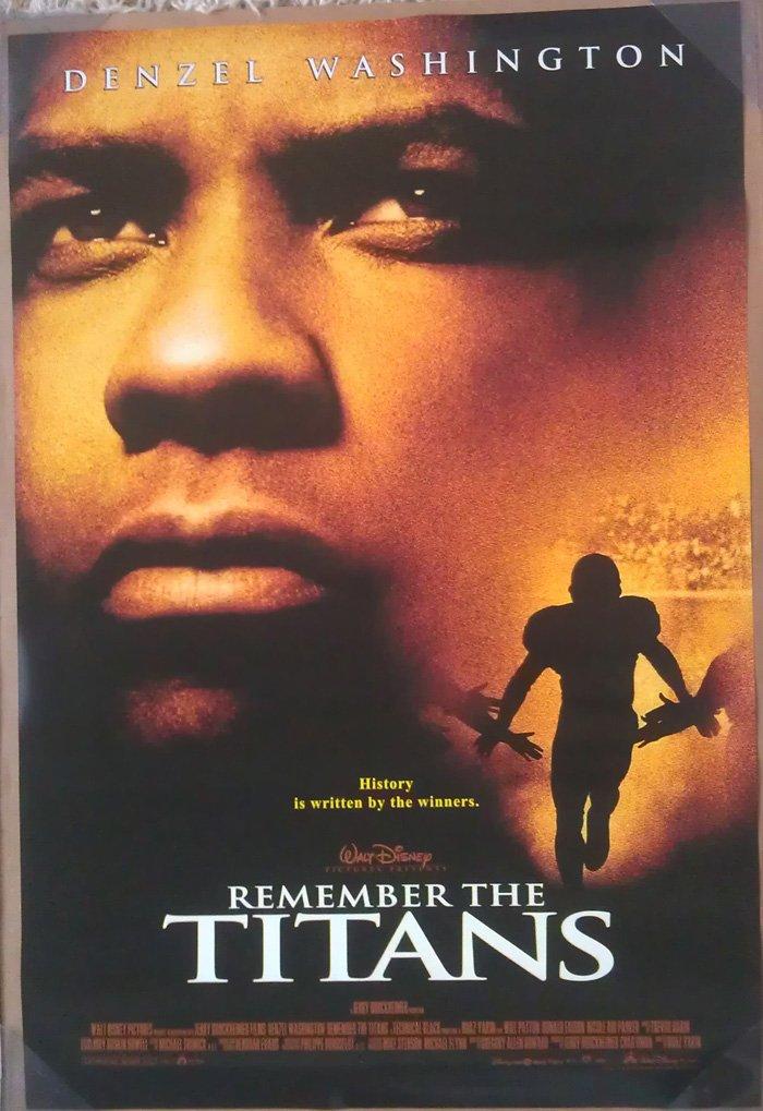 REMEMBER THE TITANS MOVIE POSTER 2 Sided ORIGINAL 27x40 DENZEL WASHINGTON
