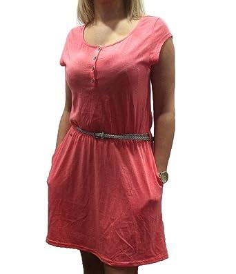 Farbe Coral ragwear zephie b organic dress farbe coral melange gr medium