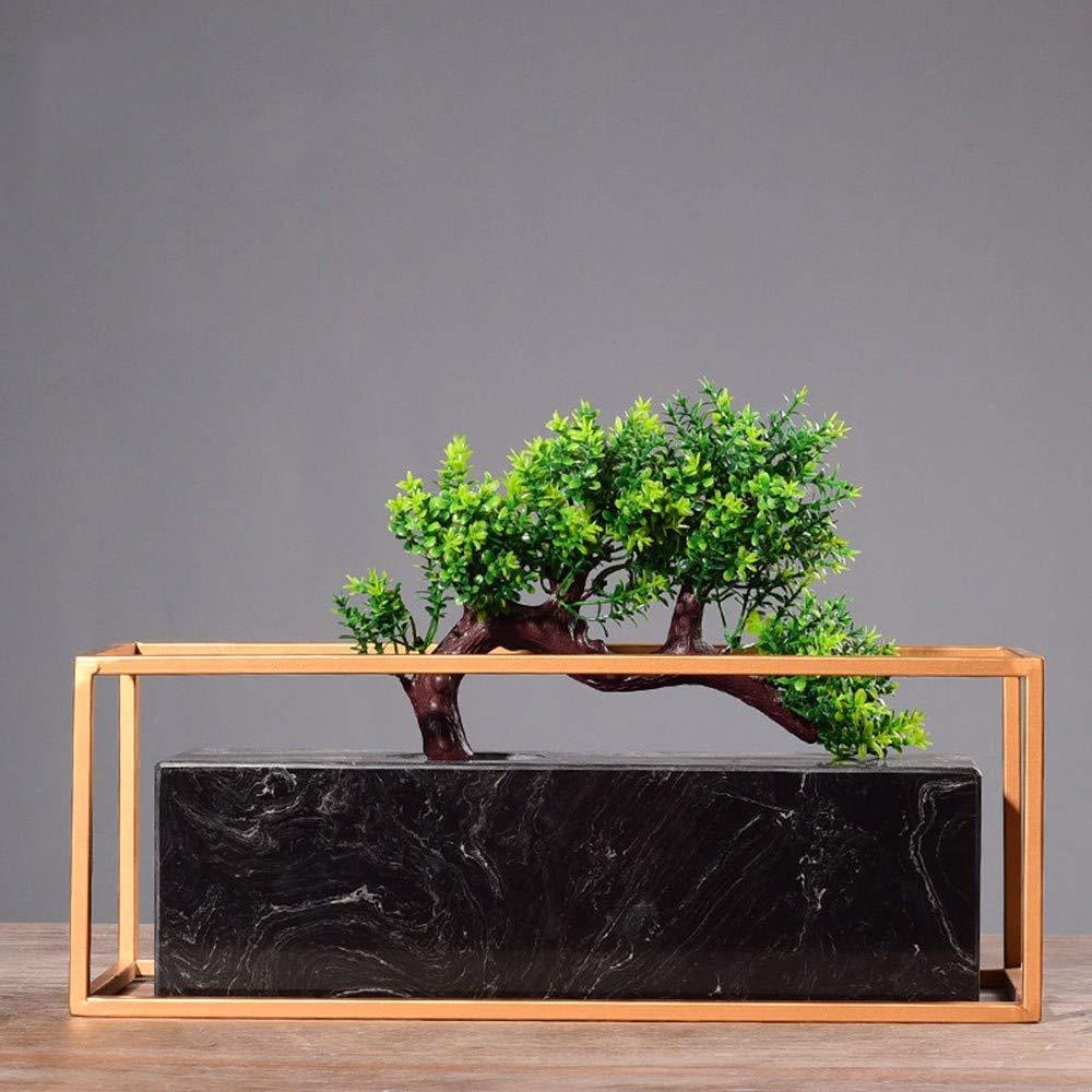 GAOLI Marble Simulation Gruß Kiefer, Grünpflanzen, Topf Ornamente, Portraits, Hotel Innendekoration
