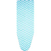 Boao 150 x 50 cm Cotton Ironing Board Cover with 2 mm Foam, Fits for Board of 119-138 cm Length and 35-45 cm Width