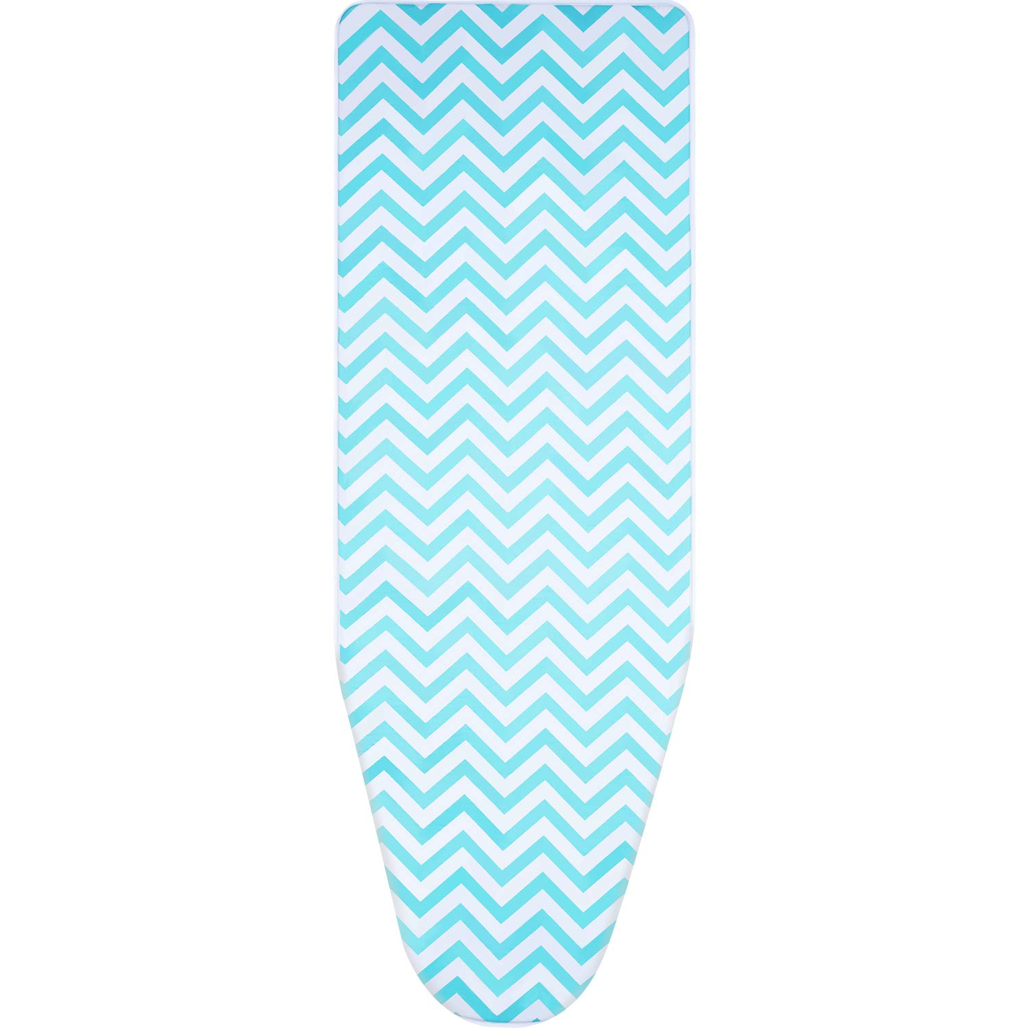 Boao 150 x 50 cm Cotton Ironing Board Cover with 2 mm Foam, Fits for Board of 119-138 cm Length and 35-45 cm Width (Green)