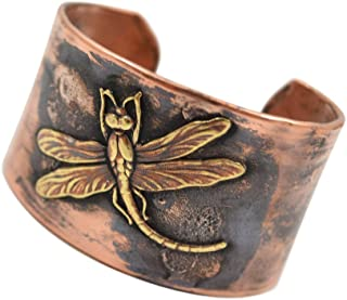product image for American Made Rustic Unisex Handmade Copper Cuff Bracelet - Dragonfly Motif