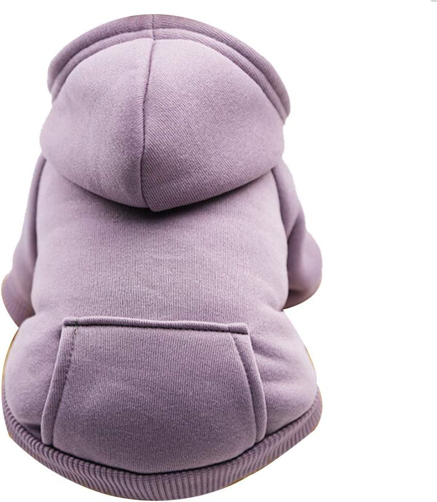 Sky Blue-3, XS Pet Polyester Hoodied Sweatshirts with Pocket Autumn Winter Warm Cute Dog Puppy Polyester Clothes Pet Clothing