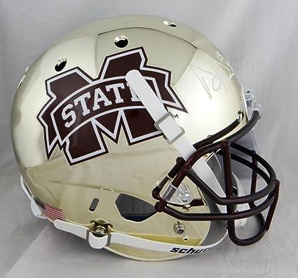 299f70a6f Dak Prescott Signed Mississippi State Gold Full Size Helmet- W Auth  White  - JSA