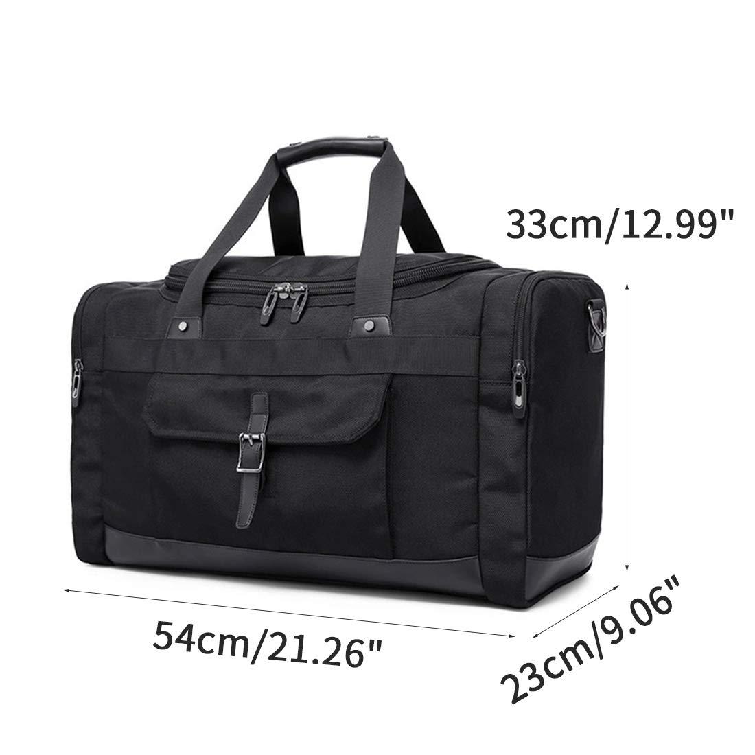 Enerhu Travel Duffel Bag Waterproof Foldable Luggage Bags Tear Resistant for Sports Extra Large Black
