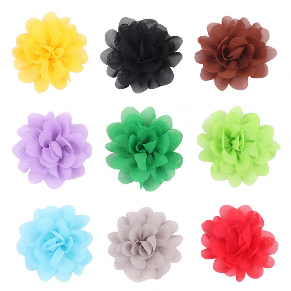 PET SHOW 2'' Plain Flowers Small Dogs Hair Bows With Clips Pet Medium Large Dogs Puppies Girls Cats Hair Clips Grooming Accessories Party Costumes Pack of 16 by PET SHOW (Image #2)
