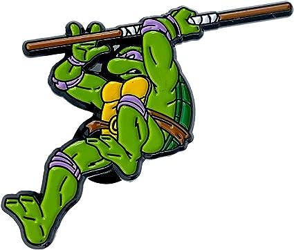 Leaping Donatello: Teenage Mutant Ninja Turtles Collectible Pin