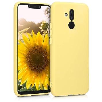 kwmobile Funda para Huawei Mate 20 Lite - Carcasa para móvil en [TPU Silicona] - Protector [Trasero] en [Amarillo Mate]