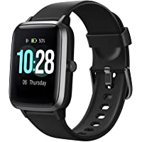 "Letsfit Smart Watch, Fitness Tracker with Heart Rate Monitor, Activity Tracker with 1.3"" Touch Screen, IP68 Waterproof…"