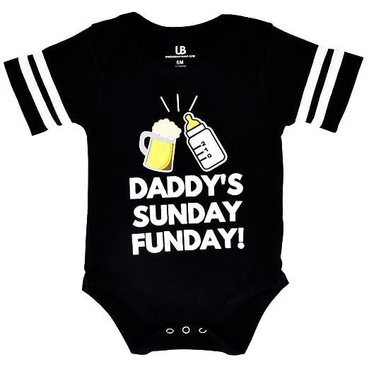 Unique Baby Unisex Daddy s Sunday Funday 1st Father s Day One Piece  (Newborn) Black 12849b5da