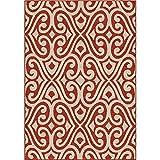 """Orian Rugs Veranda Indoor/Outdoor Santee Brick Area Rug, 7'8″ x 10'10"""", Red Review"""